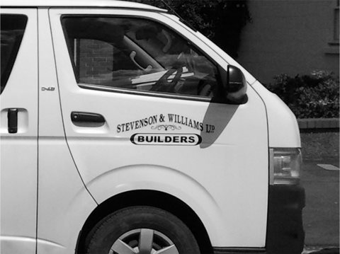 Van With Stevwill Logo